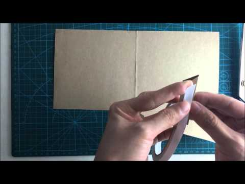 How to make a square pocket invitation by A4 paper ? (Part 1:blank pocket)