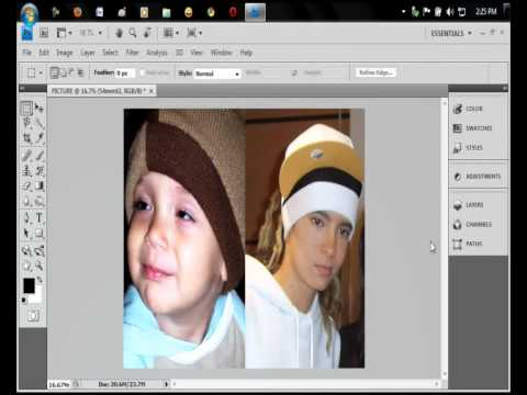 How to Combine two Pictures in Photoshop cs4