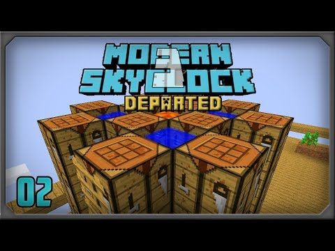 Modern Skyblock 3 Departed EP2 Sky Resources 2 Combustion Heater + Cobblestone Generator