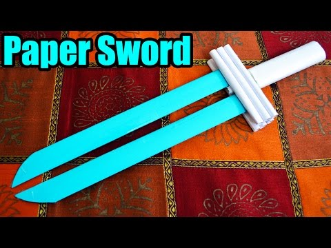 How to make a PAPER SWORD (Tutorial)