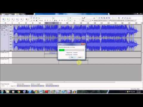 Splitting Recordings into Separate Tracks with Audacity