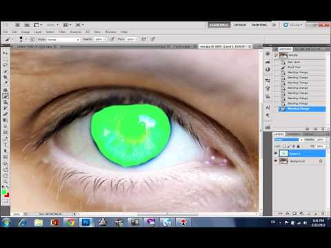 How To Change Eye Color with Adobe Photoshop CS5
