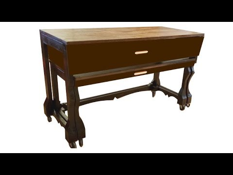 Large drawer for nesting table