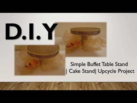 {DIY} HOW TO MAKE A SIMPLE CANDY BUFFET STAND | CAKE STAND | UPCYCLE SUPPLY PROJECT