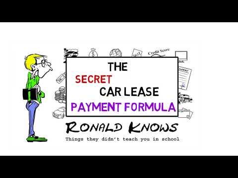 Car Lease Payment Formula Explained