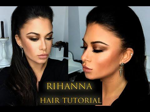 Rihanna Slicked back hair tutorial - Bellami Kylie hair kouture