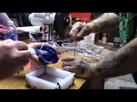 Casting custom Alumilite pen blanks
