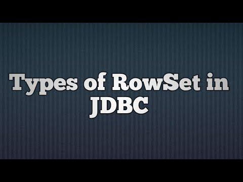 35.RowSet in JDBC
