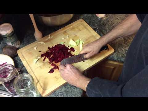 Make Homemade Cabbage And Beet Sauerkraut - Organic