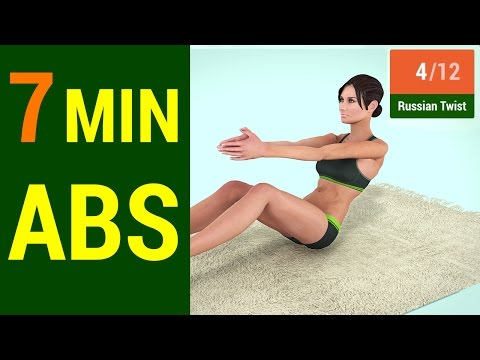 7 Min Abs Workout 2016 - How to get a Six Pack at home