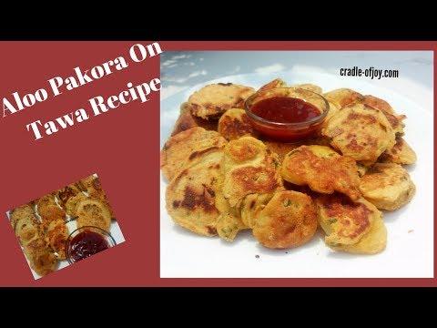 Crispy Aloo Pakora On Tawa/Aloo Pakora Recipe/Tawa Fry Potato Fritters/Potato Fritters On Tawa