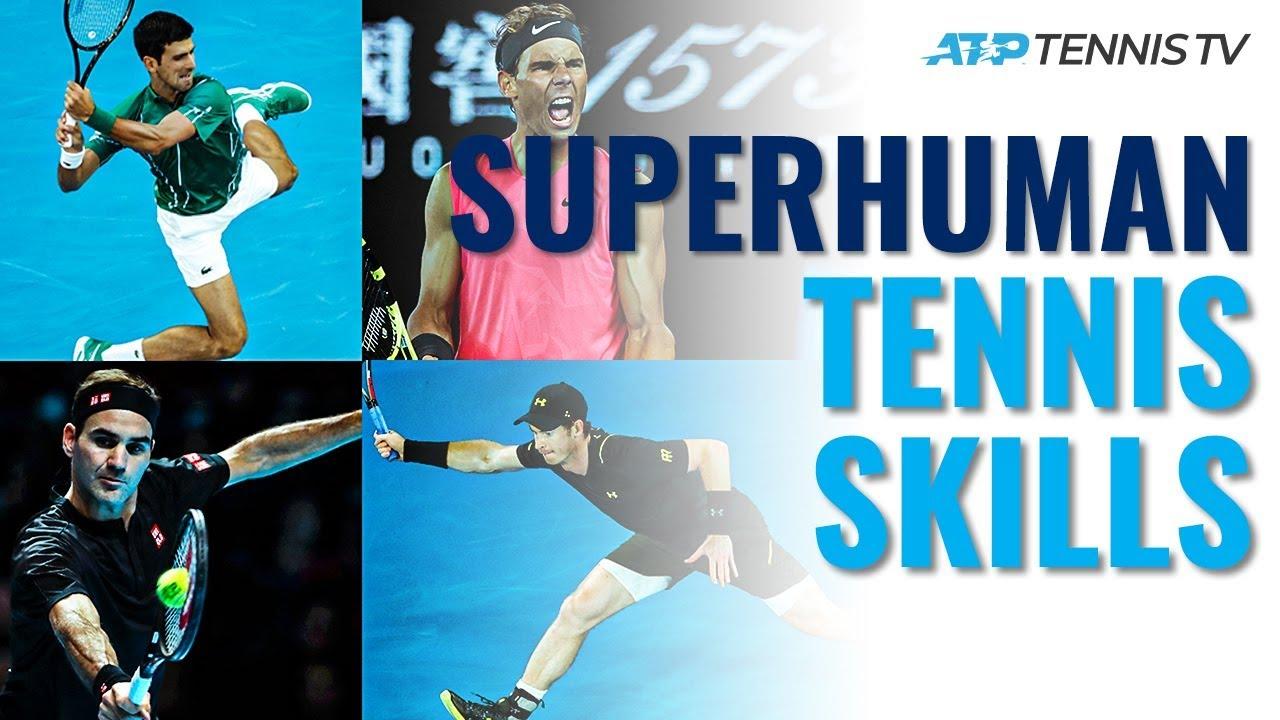 Superhuman Tennis Skills! Djokovic Flexibility, Federer Hand Skills & More...