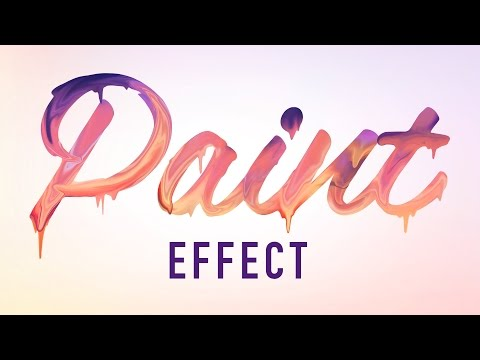 Photoshop Tutorials - Paint Text Effect