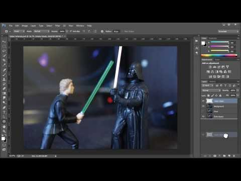 How to make the lightsaber effect in Photoshop CC