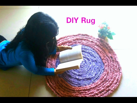 How To Make A Rug Out Of Fabric| DIY Home Decor