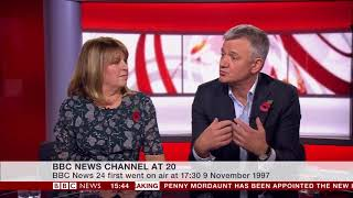 BBC News Channel at 20: Maxine Mawhinney and Chris Eakin