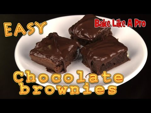 Easy Chocolate Brownies Recipe !