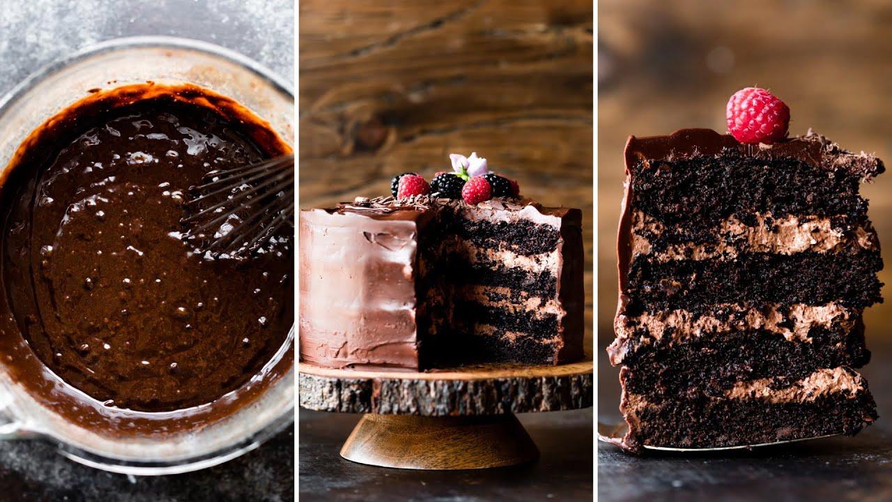Dark Chocolate Mousse Cake | Sally's Baking Addiction