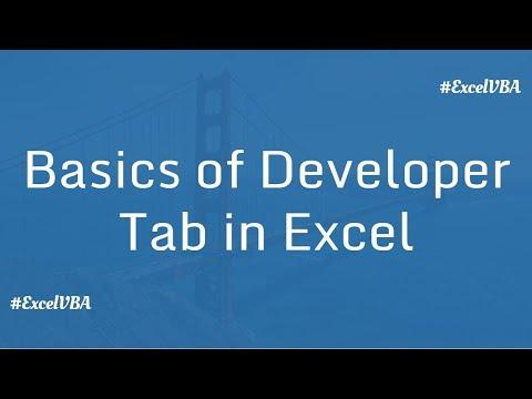 Basics of Developer in Excel | Excel VBA Macro in Hindi
