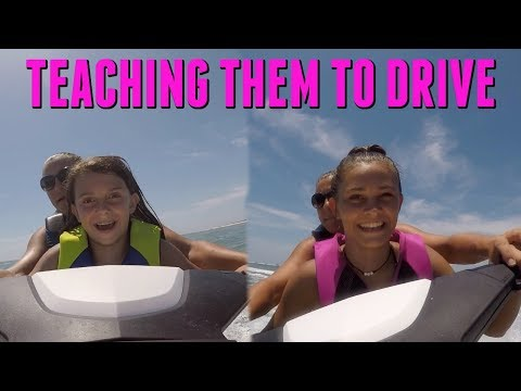 TEACHING EMMA AND ELLIE HOW TO DRIVE THE JETSKI'S PRETTY SCARY! | EMMA AND ELLIE