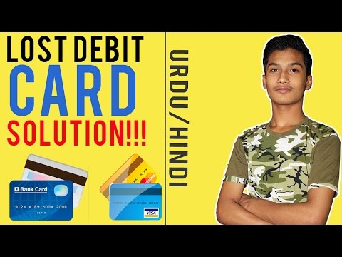 What to do if your Credit/Debit card Lost? Easy Solution