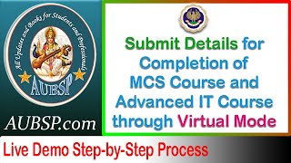 ICAI Virtual MCS Course and Advanced IT Course - Guide to Submit Google Form for Login Details