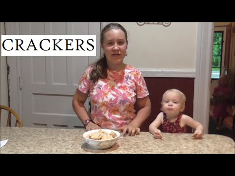 How To Make Easy Crackers- Teen Cooking With Charity