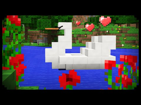 ✔ Minecraft: How to make a Swan Boat