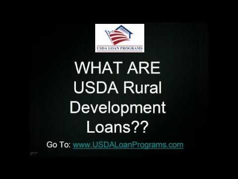 What are USDA Rural Development Loans