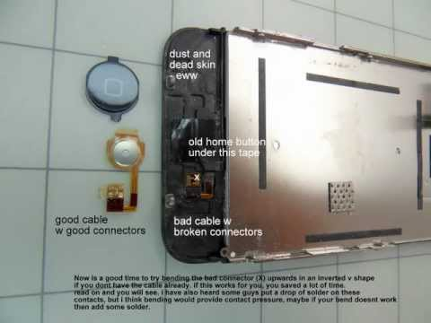 iPhone 3g & 3gs Home button, and LCD screen- step by step repair or replace - HD