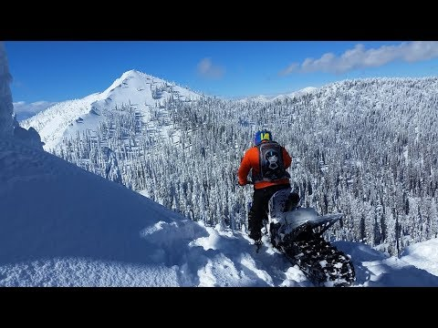 Snow Biking in Montana - Hill Climbing and Boondocking on a Yamaha YZ450 Timbersled - 2018 GoPro HD