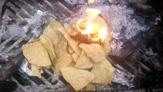 Tortilla chip fire starter