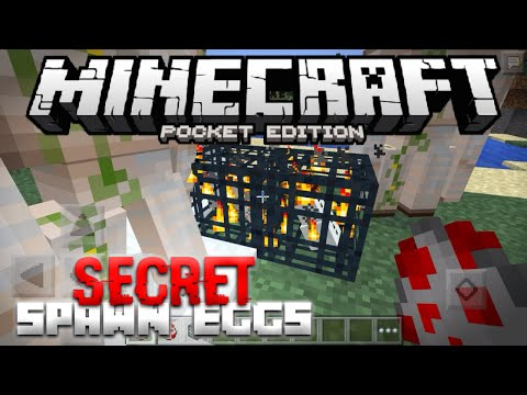 SECRET SPAWN EGGS in Minecraft PE -  Hidden Snow / Iron Golem Spawner in MCPE (Pocket Edition)