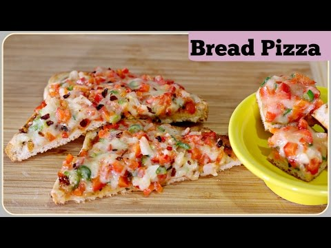 Bread Pizza - With & Without Oven |  Tawa Bread Pizza | Pan Bread Pizza