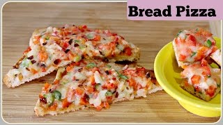 Bread Pizza With Without Oven Tawa Bread Pizza Pan Bread Pizza