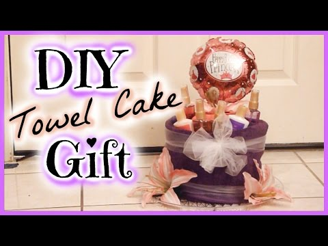 How to Make a  Towel Cake │ DIY Pamper Gift Idea