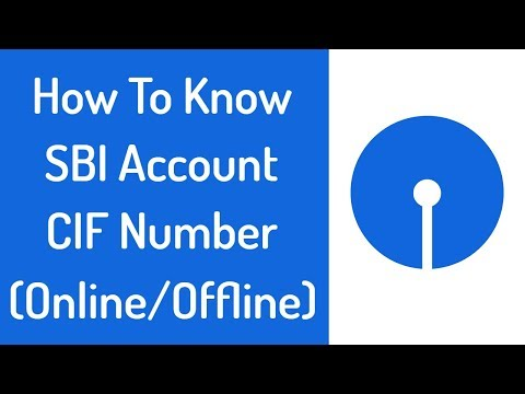 How To Know SBI CIF Number In Hindi | Check/Find SBI Account CIF Number 2018