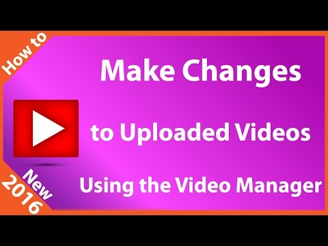 YouTube Video Manager Options
