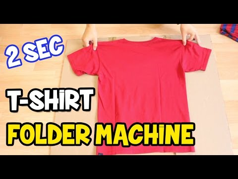 How to Fold a T-Shirt | How to make a T-Shirt folder board