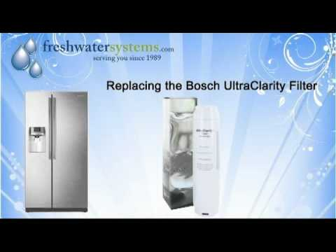 How To Replace the Bosch UltraClarity 644845 Refrigerator Water Filter