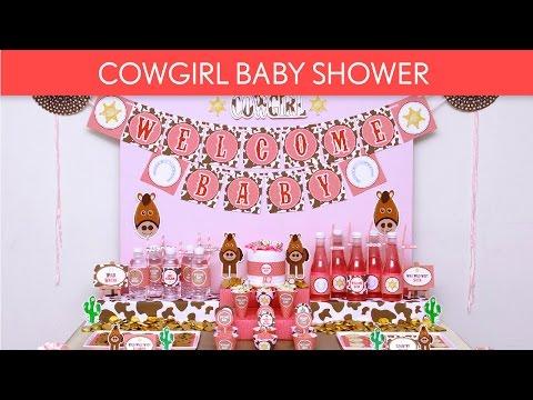 Cowgir Baby Shower Ideas // Cowgirl - S46