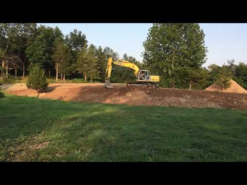 Berm is virtually complete and covered with bank run!