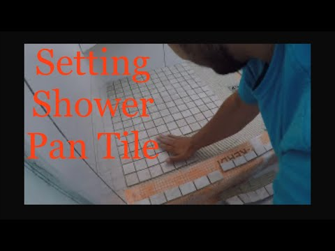 HOW TO LAY OUT MOSAIC TILE SHOWER PAN FLOOR - QUICK & EASY