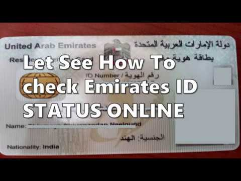 Guide: How To Check Emirates ID Card Status