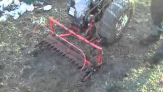 Casorzo walk behind tractor with number of attachments