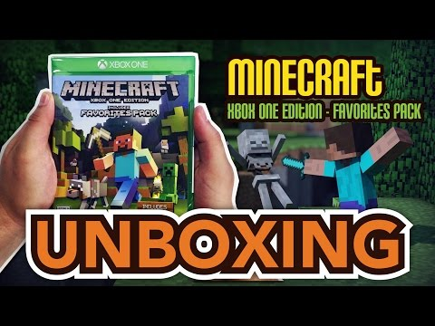 Minecraft Xbox One Edition -Includes Favorites Pack (Xbox One) Unboxing!!