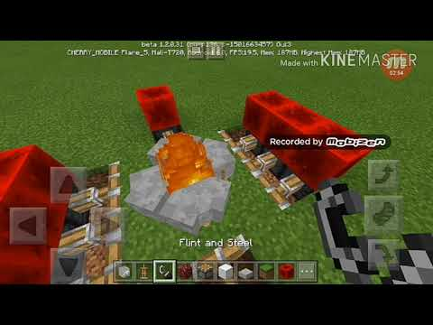 Minecraft pe : how to make a camping area