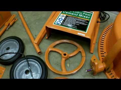 Harbor Freight 3.5 Cubic Foot Cement Mixer Assembly and Review. Item 67536