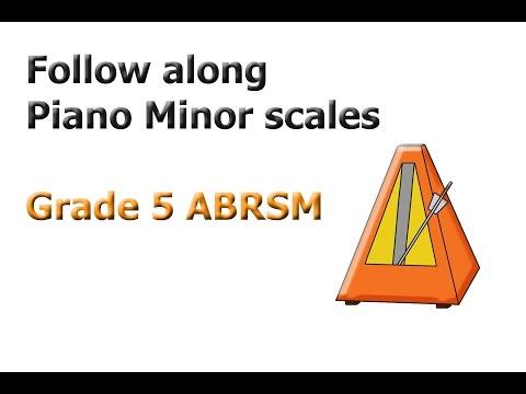 ABRSM Grade 5  Piano Minor Scales
