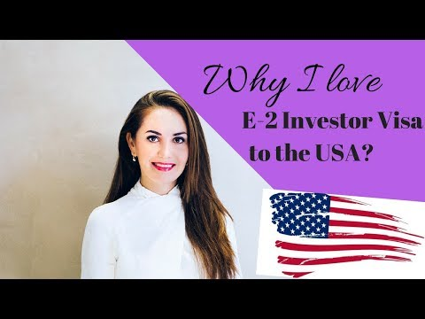 5 Reasons I love E-2 Investor Visa to the USA ❤️🇺🇸